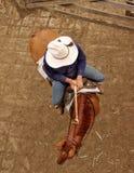 Viehzüchter in den Yards Stockbilder