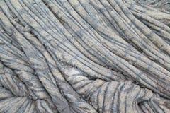Vieil écoulement de lave hawaïen du volcan 2 de Kilauea images libres de droits