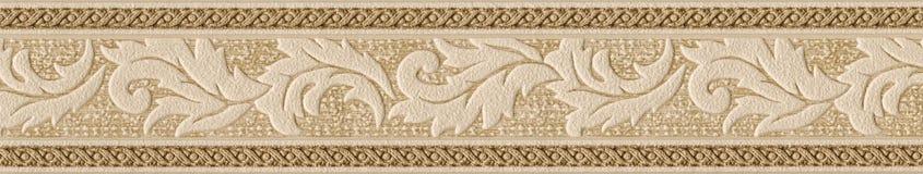 Vieil élément de décoration de papier peint Images libres de droits