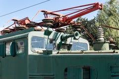 Vieil équipement de chemin de fer de réparation photo stock