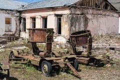 Vieil équipement militaire - échos de guerre Photo stock