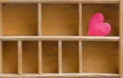 Vieil étalage en bois Image libre de droits