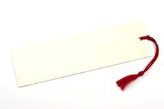 Vieil étiquette colorée par ivoire vide Photos stock