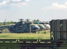 Vieil aérodrome militaire Photographie stock