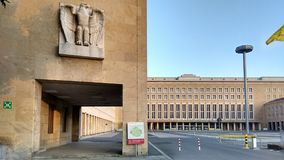 Vieil aéroport historique construisant Berlin Tempelhof Photos libres de droits