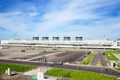 Vieil aéroport terminal de Pulkovo, St Petersburg Image libre de droits