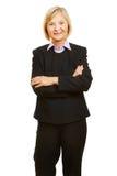 Vieil aîné féminin comme femme d'affaires Image stock
