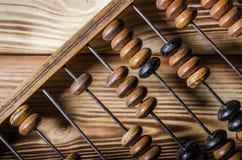 Vieil abaque en bois Photographie stock libre de droits
