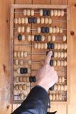 Vieil abaque en bois pour le calcul Photographie stock