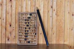 Vieil abaque en bois pour le calcul Image libre de droits