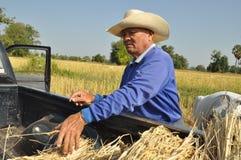 Vieil agriculteur Photographie stock