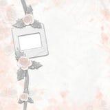 Vieil album avec les roses et les cadres peints illustration de vecteur