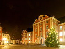 Vieil allumé et coloré par le centre pour le decorat de saison des vacances Images libres de droits