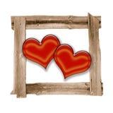 Vieil amour de coeur de trames de pré Photos stock