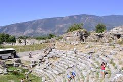 Vieil amphithéâtre grec Photographie stock