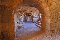 Vieil amphithéâtre en Turquie latérale Photos stock