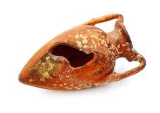Vieil Amphora cassé image libre de droits