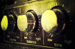 Vieil amplificateur grunge Photos stock