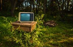 Vieil analogue TV Images stock