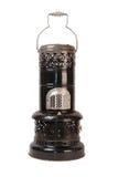 Vieil appareil de chauffage de kérosène noir d'isolement Image libre de droits