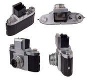 Vieil appareil-photo analogique de photo d'isolement sur le blanc Photos libres de droits