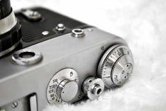 Vieil appareil-photo de film Photographie stock libre de droits