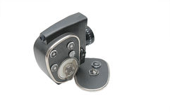 Vieil appareil-photo de film avec la fin de lentille vers le haut Photo libre de droits