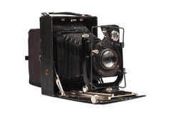 Vieil appareil-photo de film d'isolement sur le blanc Photos libres de droits