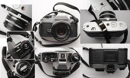Vieil appareil-photo de film de l'analogue 35mm Photo stock