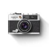 Vieil appareil-photo de photo Vecteur Images libres de droits