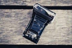 Vieil appareil-photo de pliage images libres de droits