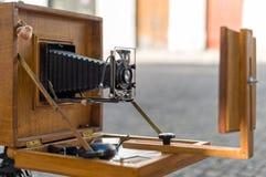 Vieil appareil-photo de pliage de vintage images libres de droits