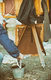 Vieil appareil-photo de pliage de vintage photos libres de droits