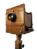 Vieil appareil-photo en bois Images libres de droits