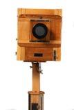 Vieil appareil-photo en bois Images stock