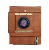 Vieil appareil-photo en bois de photo Photographie stock