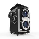 Vieil appareil-photo jumel de lentille Images stock