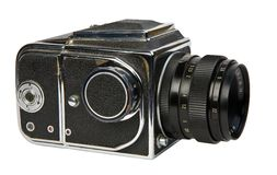 Vieil appareil-photo moyen de format Photographie stock