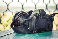 Vieil appareil-photo porté Image stock