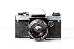 Vieil appareil-photo, rétro pousse de film Photographie stock libre de droits