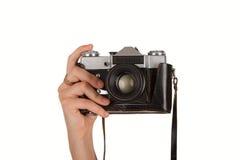 Vieil appareil-photo russe de film Photos stock