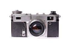 Vieil appareil-photo sur le blanc d'isolement images libres de droits