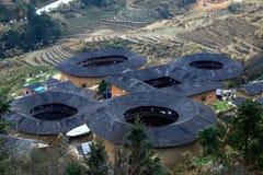 Vieil appartement de Tulou dans Fujian, Chine images libres de droits