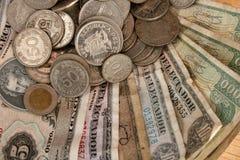 Vieil argent équatorien Photos stock