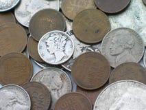 Vieil argent Images stock