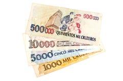 Vieil argent brésilien image stock