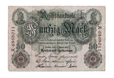 Vieil argent de l'Allemagne Photo libre de droits