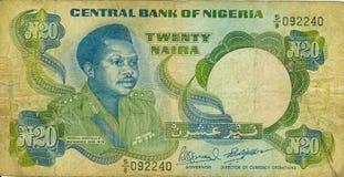 Vieil argent de papier Niger de billet de banque image stock