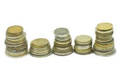 Vieil argent en métal Photos stock