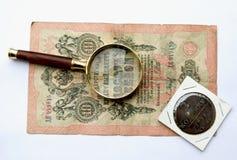 Vieil argent russe Photographie stock